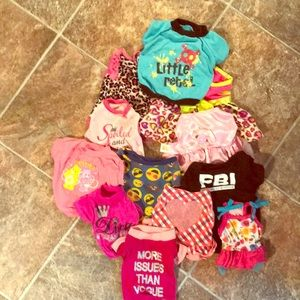 Lot of small dog clothes